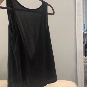 XS open back shirt